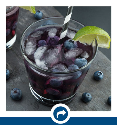 Blueberry Drink with icon